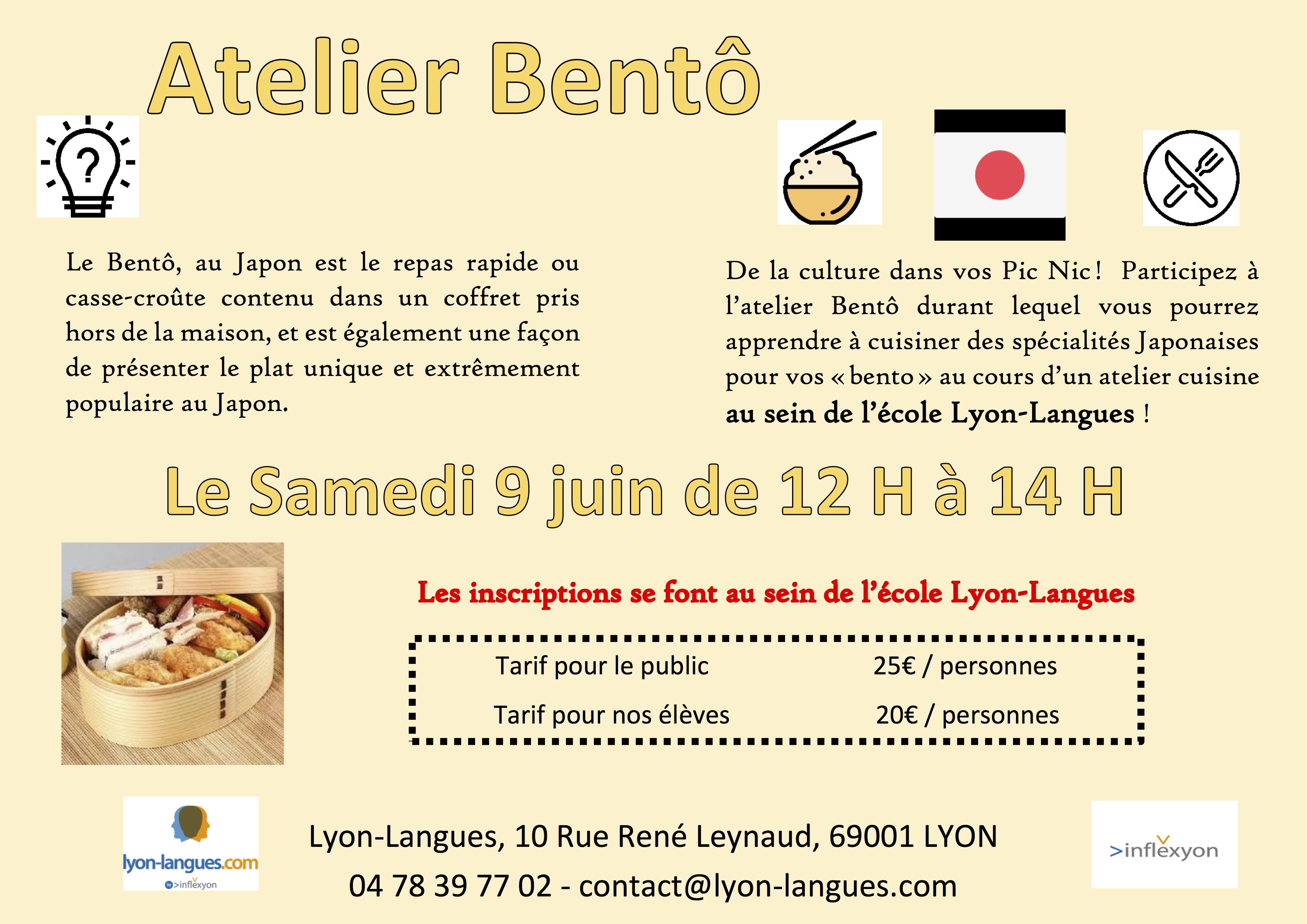 Atelier de cuisine japonaise bent lyon langues - Cours de cuisine japonaise lyon ...